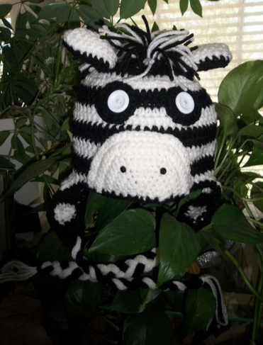Zebra Ear Flap Hat